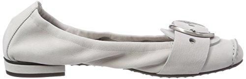 Kennel und Schmenger Women's Malu Closed Toe Ballet Flats, Grey Grey (Alu/Silver 355)