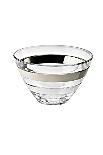 Platinum Fruit Dessert Bowl - Barski - European Glass - Small Fruit / Nut / Dessert Bowl - With Platinum Band - 5.5