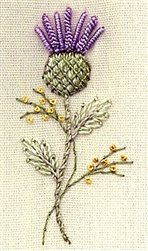 Thistle Teach Me - DK Designs Brazilian Embroidery pattern & fabric ()