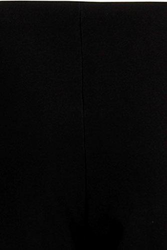 Pantalones acanalados para mujer, múltiples usos, color negro negro