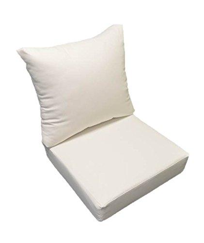 Amazon Com Resort Spa Home Decor Sunbrella Canvas White Cushion