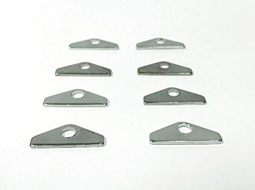 Down Tabs Hold - Pirate Mfg Hot Rod Chevy 8 Chrome Valve Cover Hold Downs Mini Tabs Sbc 265 283 327 350 383