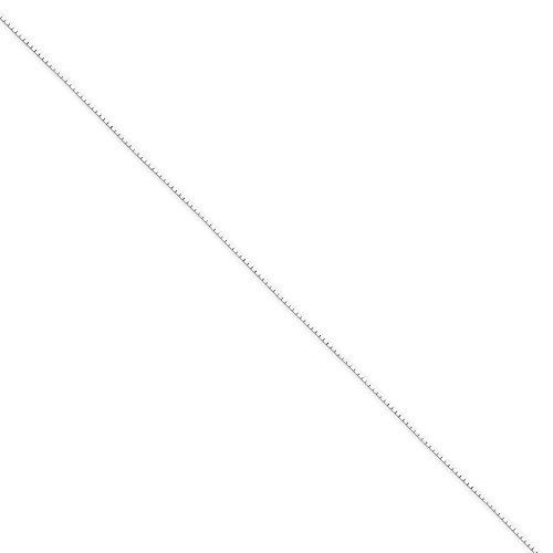 Chains .925 Sterling Silver 0.60MM Diamond-Cut Mirror Box Link Necklace, 20