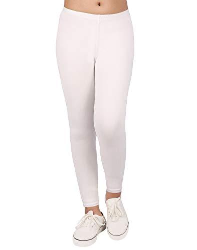 HDE Girls White Leggings Buttery Soft Leggings Legging Size 10 12 ()