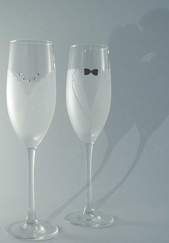 Amazon bride groom champagne flute glass set by asta glass bride groom champagne flute glass set by asta glass solutioingenieria Choice Image