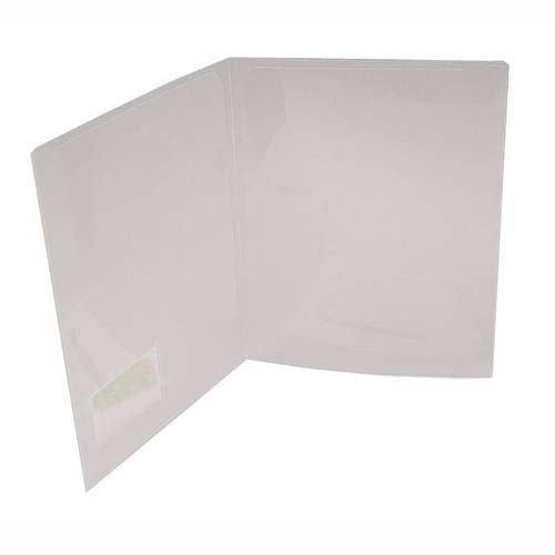 Project Folder with 2 Pockets, Letter, 5/PK, Transparent (LIO52300CR) Category: File Jackets