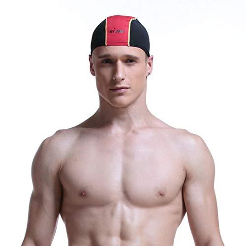 WFFO Swimming Cap Waterproof Unisex Premium No-Slip Swimming Cap One Size Hat - Swim Ironman Cap