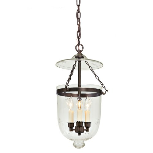 JVI Designs 1021-08 Bell Jar Lantern with Star Glass, Medium ()