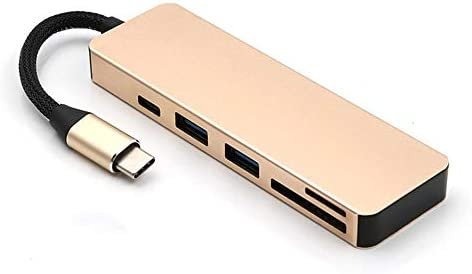 USB C Hub Aluminum USB-C Hub Adapter USB C Hub Aluminum USB-C Hub Adapter Multi-Function 5 in 1 C HUB Type C