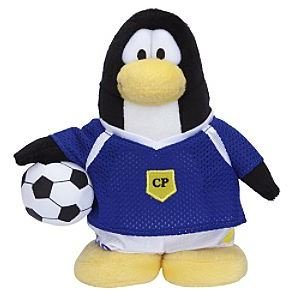 Rare Club Penguin Soccer Player Blue Team 6.5