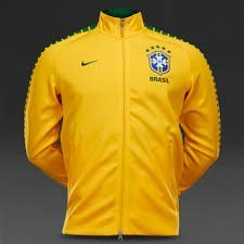 Nike Brazil N98 Authentic Track Jacket (Varsity Maize/Pine Green) (XXL) (Yellow Jacket Nike)