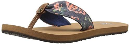 Picture of Reef Girls' Little Scrunch TX-K Sandal, Navy Rose, 7/8 M US Toddler