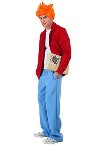 Fry From Futurama (Fry Costume Large Red,Blue)