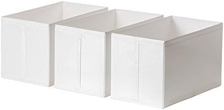 IKEA SKUBB - caja, blanco/ , 3 unidades/ , 3 unidades - 31 x 55 x 33 cm: Amazon.es: Hogar