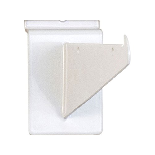 White Slatwall Shelf Bracket - KC Store Fixtures A01723 Slatwall Shelf Bracket, 6