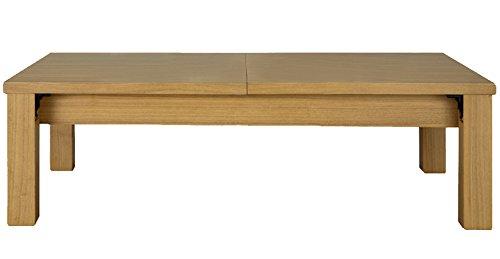SUNHARVEST 伸縮折れ脚リビングテーブル 幅120~180cm ライトブラウン 完成品 JF-2120LBR B0758GGM5F ライトブラウン