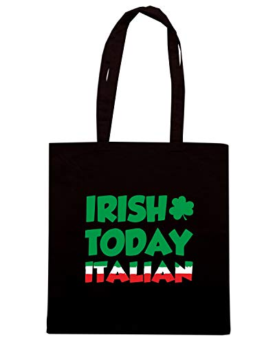 Speed Shirt Borsa Shopper Nera TIR0115 IRISH TODAY ITALIAN TOMORROW