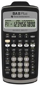 Texas Instruments BA-II-PLUS TI BA II Plus Calc Slide Case