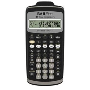 Texas Instruments, TI BA II+ w/Case (Catalog Category: Calculators / Business & Financial Calcs)