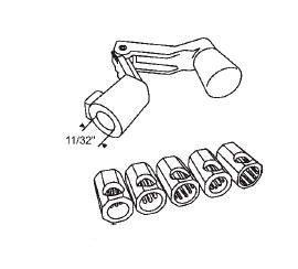 Window Operator Handle Crank Type Universal Aluminum