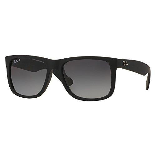 Ray-Ban Justin Classic Sunglasses,55mm,Black Rubber/Polar Grey Gradient