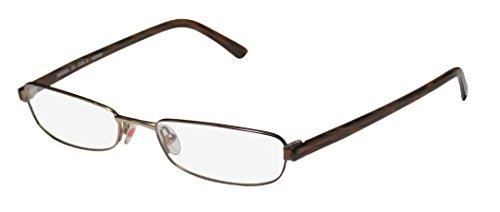 Karen Millen Km0065 Womens/Ladies Designer Full-rim Eyeglasses/Eyeglass Frame (55-17-140, Gold / Brown / - Millen Karen Glasses Frames