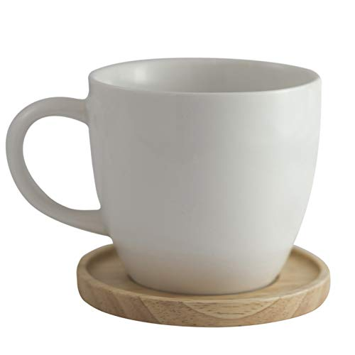 Amuse- Aquarelle Collection- Grande Porcelain Mug with Bamboo Lid (17 oz.)- Gift Box - Oz Bistro 17 Color