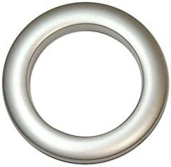 Anneaux Rideaux A Clipser.Oeillets A Clipser Pour Rideaux Coloris Argent Mat Diametre 55 Mm Lot De 8