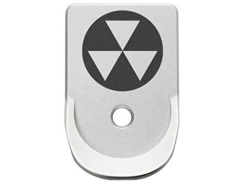 Magazine Base Plate for Glock Gen 1-5 Finger Extended 9MM .357 .40 NDZ Silver Fallout Shelter Symbol 1
