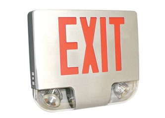 Die Cast Aluminum LED Combo Exit Sign with Battery Back up ESW-400C by Exit Sign Warehouse