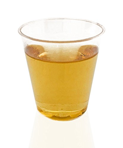 1000 Plastic Shot Glasses - 1 Oz Disposable Cups - 1 Ounce Shot Glasses - Small Party Cups Ideal for Whiskey, Wine Tasting, Food Samples, and Condiments (Clear)]()