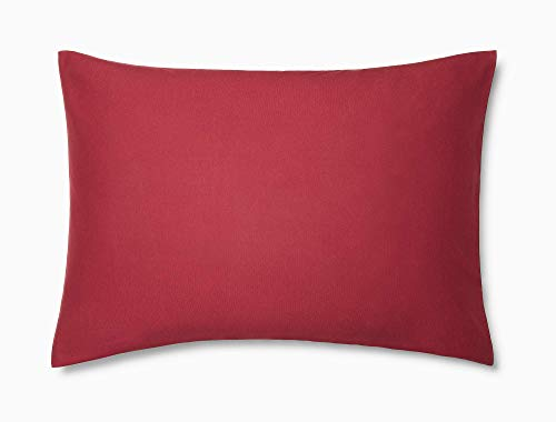 Calvin Klein Modern Cotton Harrison Pillowcase Pair, King, Burgundy - Klein Bed Pillow