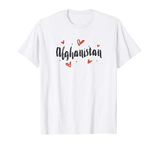 I Heart Afghanistan T-Shirt Cute Love Hearts Design Tee