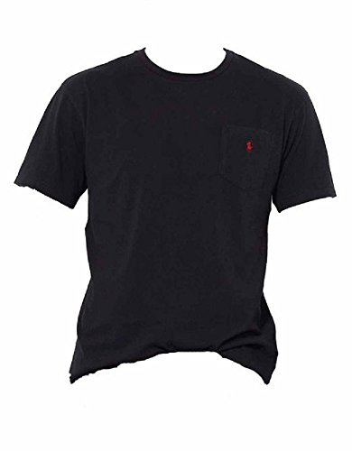 Polo Ralph Lauren Men Classic Fit Pocket T-Shirt (X-Large, Black (Red Pony))