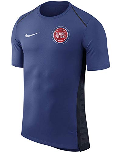 - Nike Men's Dry Detroit Pistons Hyperlite Short Sleeve Shooter Shooting Shirt (Blue, X-Large)