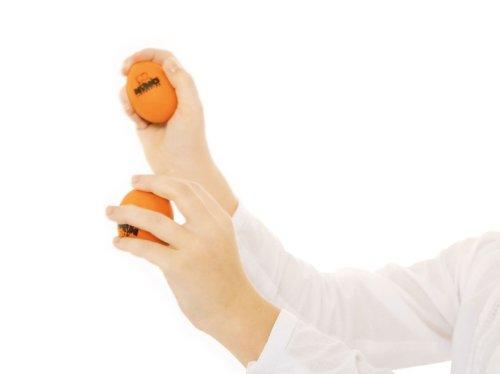 Nino Percussion NINO540OR-2 Egg-Shaker Normale Gr/ö/ße in Orange 2er Set