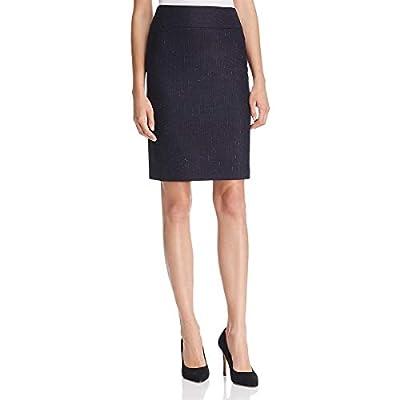 Hugo Boss BOSS Womens Visala1 Wool Pinstripe Pencil Skirt