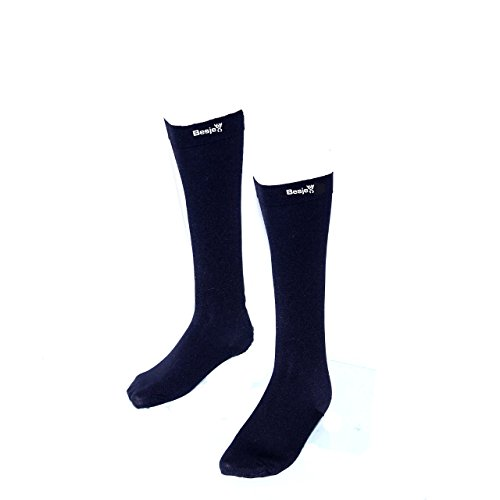 Besjex ™ Compression Stockings Below Knee for Men & Women (1 Pair) Compression Knee High Socks, Closed Toe, 20-30 mmhg Graduated, Great For Crossfit, Running, Athletic Sports, Travel, Maternity Pregnancy, (Juicy Knee Socks)