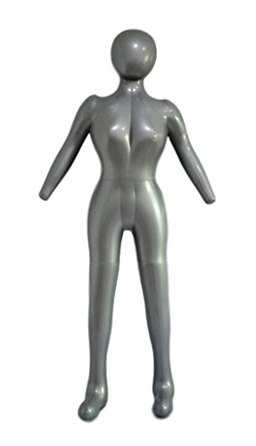 Inflatable Female Full Body Mannequin Dress Form Dummy with Arms and Legs Model Display -