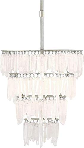 Currey & Company Pendant FAROUCHE 3-Tier Hanging Crystals 1-Light Ma