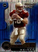 2001 Leaf Quantum Chris Weinke #203 Carolina Panters Rookie Football Card Quantum Football