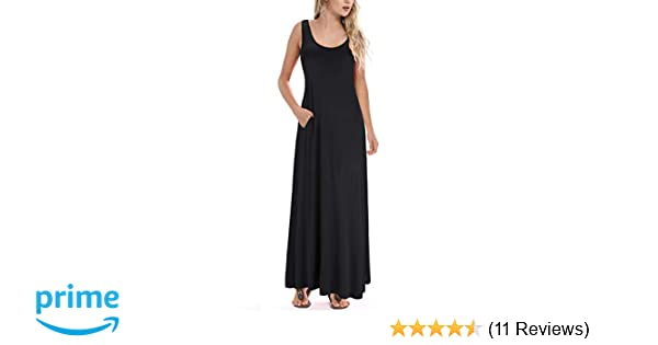 Huskary Womens Sleeveless Summer Maxi Dress Casual Summer Long