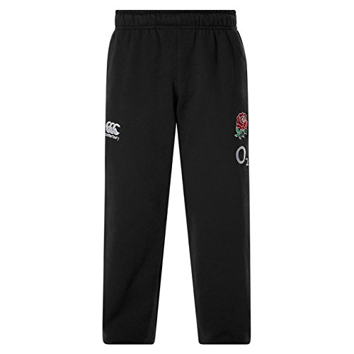 Canterbury Kids Boys England Rugby Fleece Pants Junior Training Bottoms Black 13 - Training England Fleece