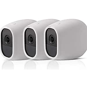 EEEKit 3-Pack Silicone Skin Protective Case Cover for Arlo Pro/Arlo Pro 2 Netgear Home Smart Security Wireless Camera (3-Pack White)