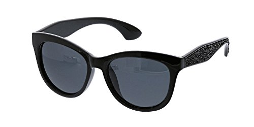 Peepers Women's Caliente Reading Sun 2.50 Square Sunglasses, Black, 54 mm 2.5
