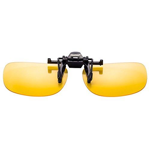 Zheino 1909 Visión nocturna de conducción gafas de sol polarizadas, con clip flip-up gafas de sol, UV400 Anti-reflejo polarizado gafas de sol amarillas: ...