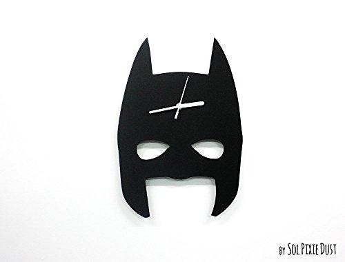 Batman Mask Minimalist Film Silhouette - Wall Clock
