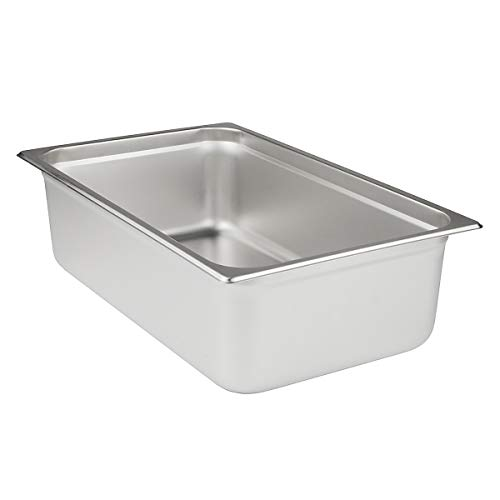 Update International NJP-1004 24-Gauge Stainless Steel Anti-Jam Steam Table Pan, Full, 14.5-Quart ()