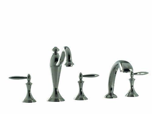 Santec Lear I Collection Roman Tub Filler With Hand Held Shower - 2555LA36 BRIGHT VICTORIAN COPPER