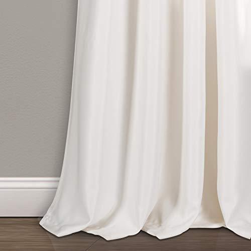 "Lush Decor Weeping Flowers Room Darkening Window Panel Curtain Set (Pair), 84"" x 52"", Turquoise and Tangerine 4"